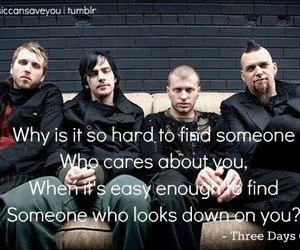 lyric, song, and three days grace image