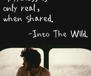 into the wild, quote, and happiness image