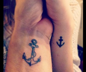 anchor, couple, and Tattoos image