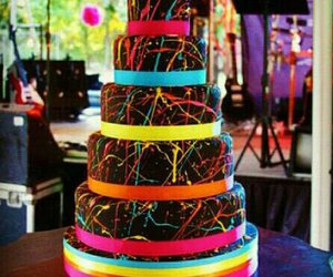 cake, colors, and food image