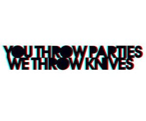 party, knives, and throw image