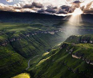 africa, mountains, and sun image