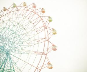 circle, ferris wheel, and fun image