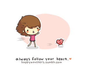 heart, follow, and girl image