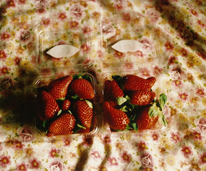 strawberry, food, and hipster image