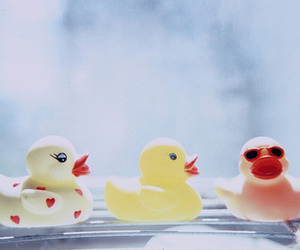 duck, pink, and cute image