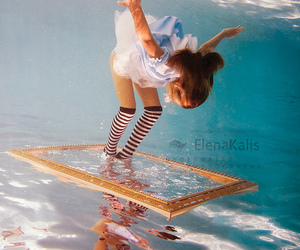 water, alice, and underwater image