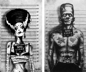 Frankenstein, horror, and tattoo image