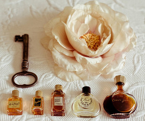 flower, key, and perfume image