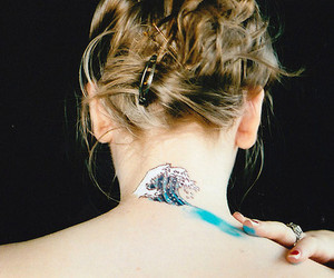 blonde, nape, and ocean image
