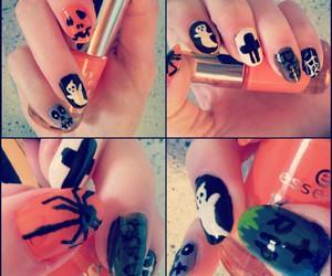 ghost, nailpolish, and pumpkin image