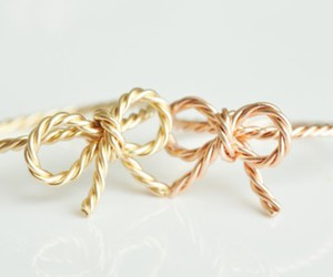 bow, cute, and gold image