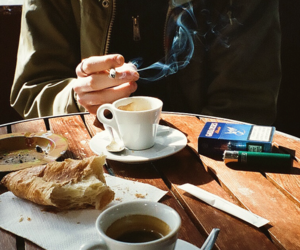 bar, cigarette, and breakfast image