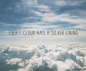 cloud, typography, and quote image