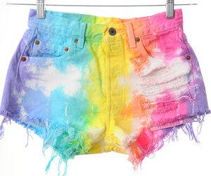 rainbow, shorts, and fashion image