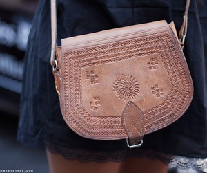 bag, fashion, and leather image