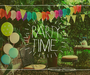 balloons, garden, and partytime image