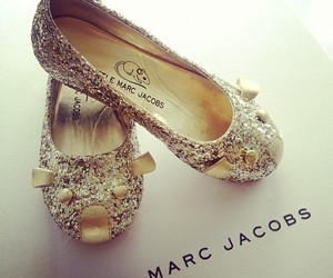 shoes, marc jacobs, and gold image