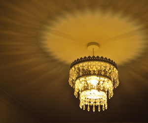 chandelier, light, and crystal image