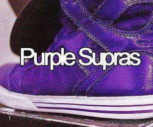 justin bieber, purple, and supras image