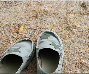 sand, shoes, and stars image