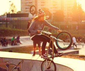 girl, bmx, and Dream image
