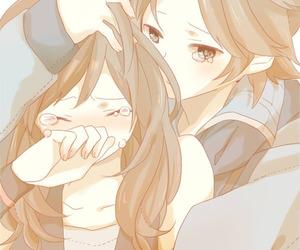 anime, hug, and kawaii image