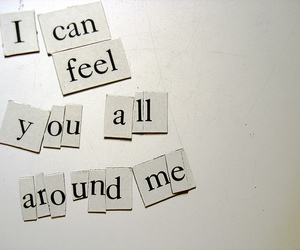 flyleaf, text, and all around me image