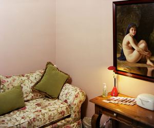 interior, room, and pink image