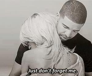 rihanna, Drake, and quote image