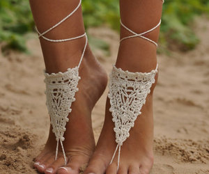 <3, foots, and sand image