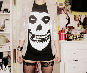 girl, misfits, and black and white image