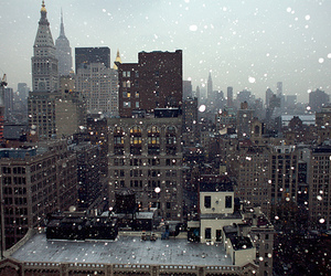 snow, city, and winter image