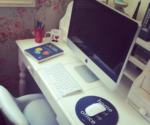 apple, computer, and room image