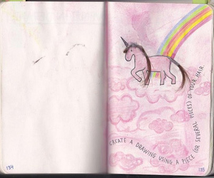 rainbow, unicorn, and wreck this journal image