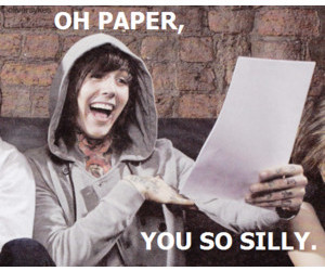 oliver sykes, funny, and Paper image