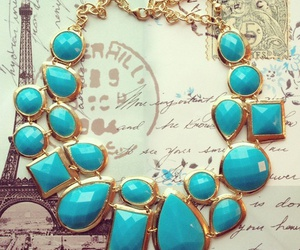 blue, necklace, and accessories image