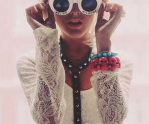 fashion, glasses, and blonde image