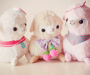 cute, alpaca, and kawaii image