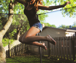 girl and jump image