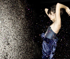 girl, glitter, and dress image