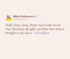 one direction, ellen, and liam payne image