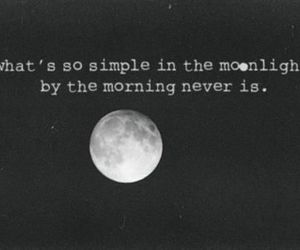 quote, text, and moon image
