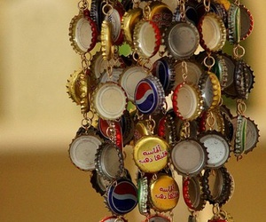Bottle caps and wind chime image
