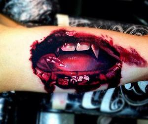 tattoo, blood, and arm image