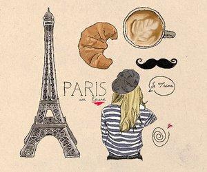 paris, france, and moustache image