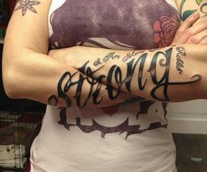 tattoo, strong, and cool image
