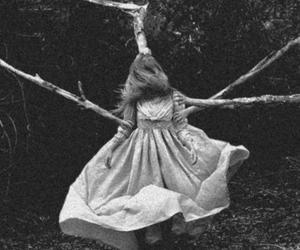 girl, tree, and dress image