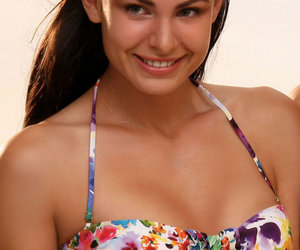 jolidon, bandeau swimsuit, and two piece swimsuit image