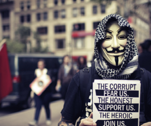 anonymous, quote, and v for vendetta image